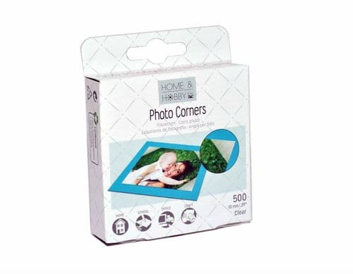3L Home & Hobby Clear Photo Corners 10mm x 500