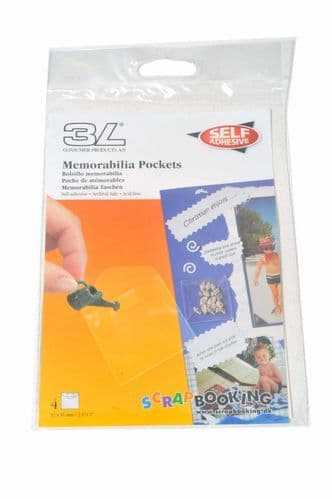 3L  Memorabillia pockets (Small)  for scrapbooking Display packets