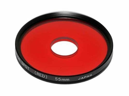 55mm Centre Spot Clear Red Filter  made in Japan