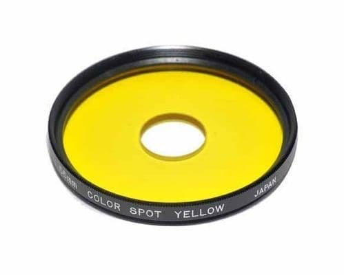 55mm Centre Spot Yellow Filter Made in Japan