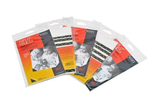 5x Packs of 3L Black Photo Corners 15mm x 224