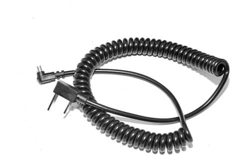 AC-PC Coiled Flash Sync Lead Heavy Duty 2 Meters