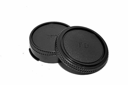 Canon FD Mount Body & Back Cap Set