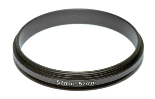 Coupling Ring Male-Male Thread 52mm-52mm Double Lens Reverse Macro Adapter