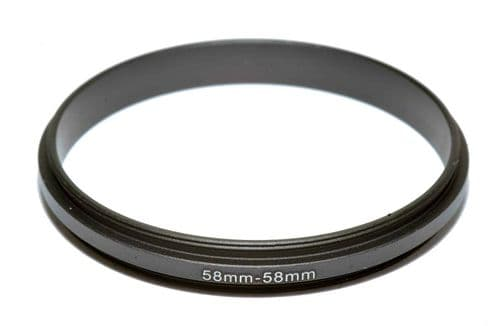 Coupling Ring Male-Male Thread 58-58mm Double Lens Reverse Macro Adapter