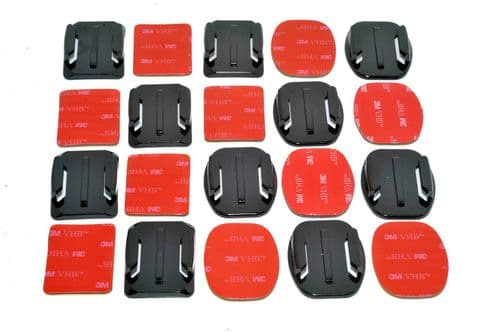 Curved & Flat Surface Adhesive Mounts GoPro Compatible x10
