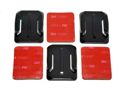 Curved Surface  Adhesive Mounts GoPro Compatible x3