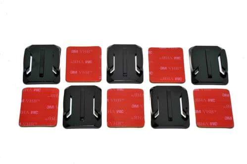 Curved Surface  Adhesive Mounts GoPro Compatible x5