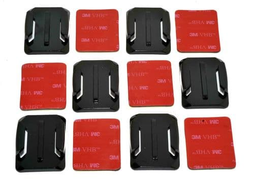 Curved Surface  Adhesive Mounts GoPro Compatible x6