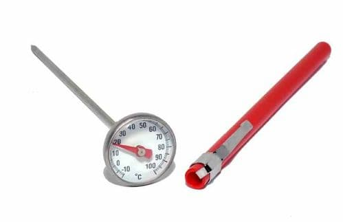 Darkroom Chemical Dial Thermometer 25mm Stainless Steel Great for Developing Dishes
