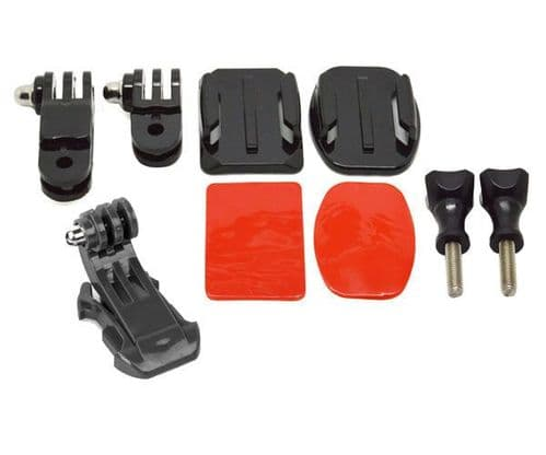 Flat & Curved Helmet Front / Side Mounting Kit with J Hook for GoPro  5/6/7/8/9