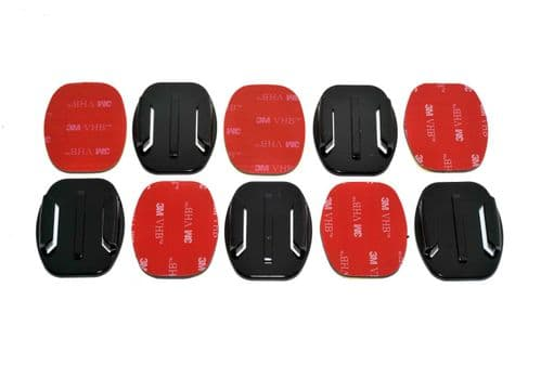 Flat Surface  Adhesive Mounts GoPro Compatible x5