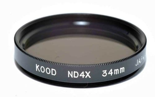 High Quality Kood  ND4 Neutral density filter Made in Japan 34mm 2 Stop Filter
