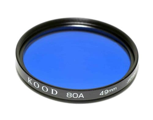 High Quality Optical Glass 80A Filter Made in Japan 49mm Kood