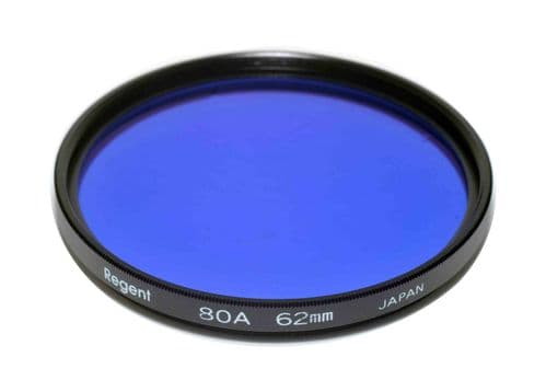 High Quality Optical Glass 80A Filter Made in Japan 62mm Regent (Kood)