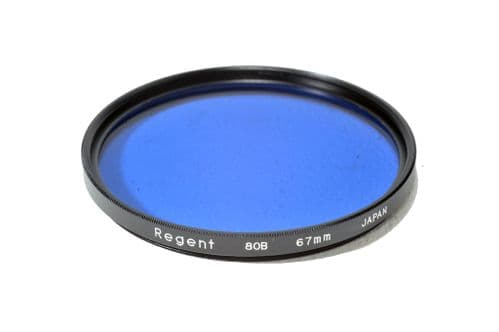 High Quality Optical Glass 80B Filter Made in Japan 67mm Kood