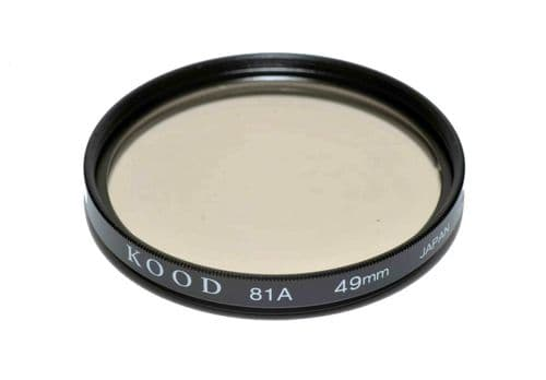 High Quality Optical Glass 81A Filter Made in Japan 49mm Kood