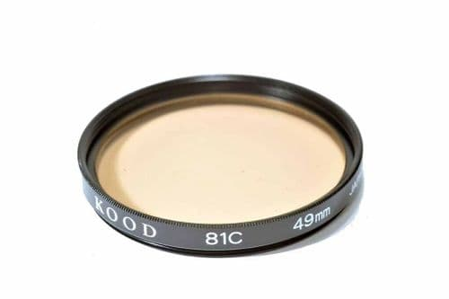 High Quality Optical Glass 81C Filter Made in Japan 49mm Kood