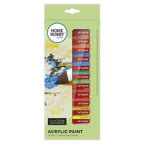 HOMEHOBBY by 3L Acrylic Paint 12 Colours 12ml tubes