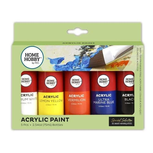 HOMEHOBBY by 3L Acrylic Paint 5 Bottles 75ml