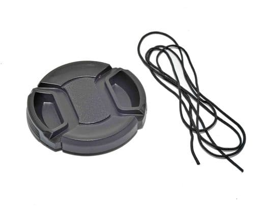 Kood Centre Grip Front Lens Cap 37mm & Keep Cord