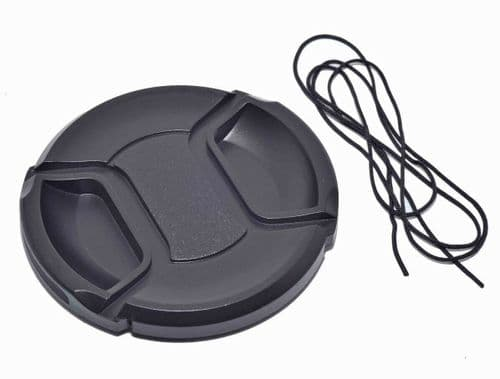 Kood Centre Grip Front Lens Cap 77mm & Keep Cord
