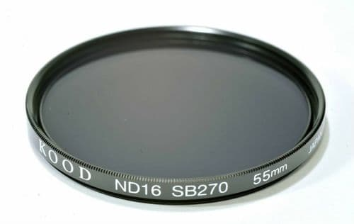 Kood High Quality ND16 Neutral density filter Made in Japan 55mm 4 stop Filter