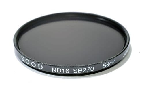 Kood High Quality ND16 Neutral density filter Made in Japan 58mm 4 stop Filter