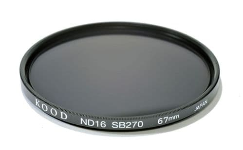 Kood High Quality ND16 Neutral density filter Made in Japan 67mm 4 stop Filter