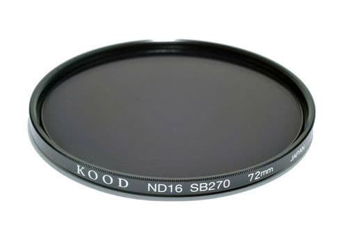 Kood High Quality ND16 Neutral density filter Made in Japan 72mm 4 stop Filter