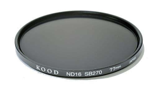 Kood High Quality ND16 Neutral density filter Made in Japan 77mm 4 stop Filter (1)