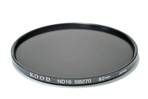 Kood High Quality ND16 Neutral density filter Made in Japan 82mm 4 stop Filter