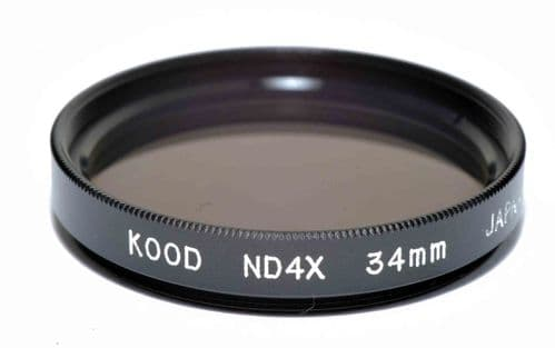 Kood High Quality ND4 Neutral density filter Made in Japan 34mm 2 stop Filter (1)