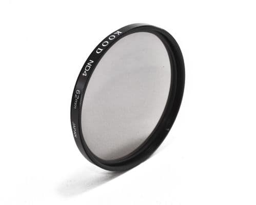Kood High Quality ND4 Neutral density filter Made in Japan 62mm 2 stop Filter