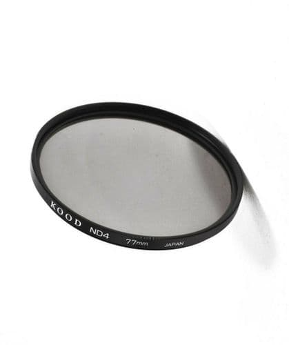 Kood High Quality ND4 Neutral density filter Made in Japan 77mm 2 stop Filter