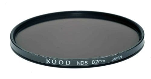Kood High Quality ND8 Neutral density filter Made in Japan 82mm 3stop Filter