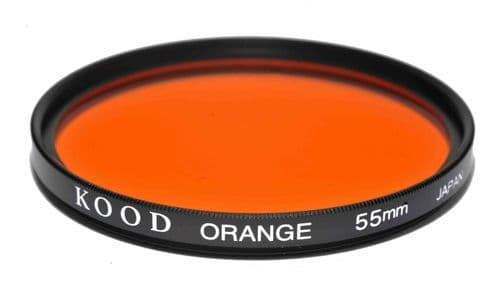 Kood High Quality Optical Glass Orange Filter Made in Japan 55mm