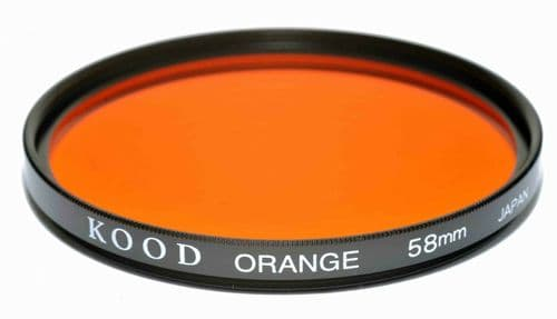 Kood High Quality Optical Glass Orange Filter Made in Japan 58mm