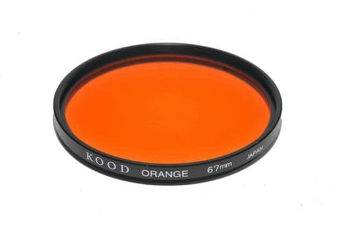 Kood High Quality Optical Glass Orange Filter Made in Japan 67mm