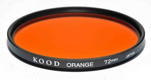 Kood High Quality Optical Glass Orange Filter Made in Japan 72mm