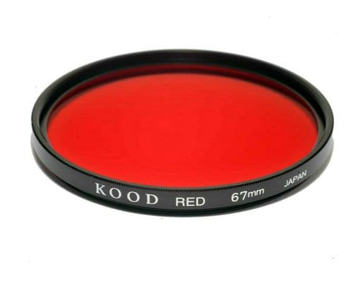 Kood High Quality Optical Glass Red Filter Made in Japan 67mm