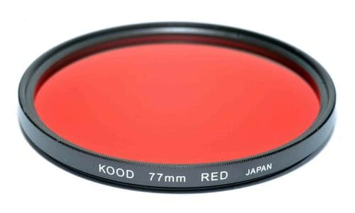 Kood High Quality Optical Glass Red Filter Made in Japan 77mm