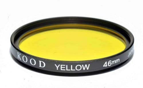 Kood High Quality Optical Glass Yellow Filter Made in Japan 46mm
