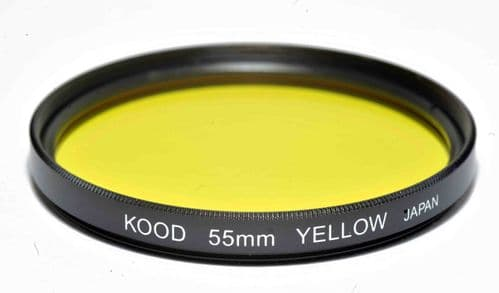 Kood High Quality Optical Glass Yellow Filter Made in Japan 55mm
