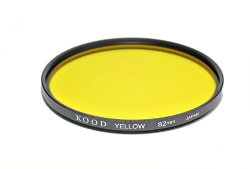 Kood High Quality Optical Glass Yellow Filter Made in Japan 82mm