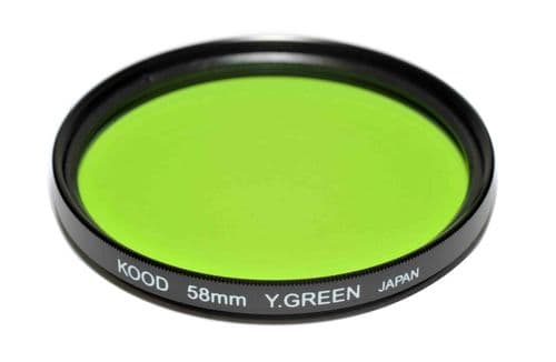 Kood High Quality Optical Glass Yellow/Green Filter Made in Japan 58mm