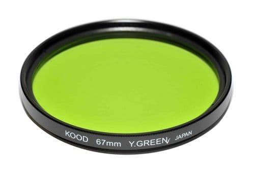 Kood High Quality Optical Glass Yellow/Green Filter Made in Japan 67mm