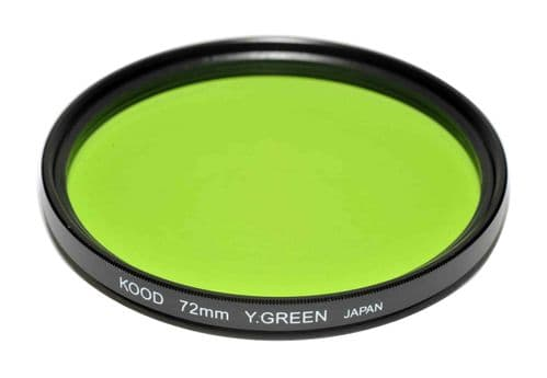 Kood High Quality Optical Glass Yellow/Green Filter Made in Japan 72mm