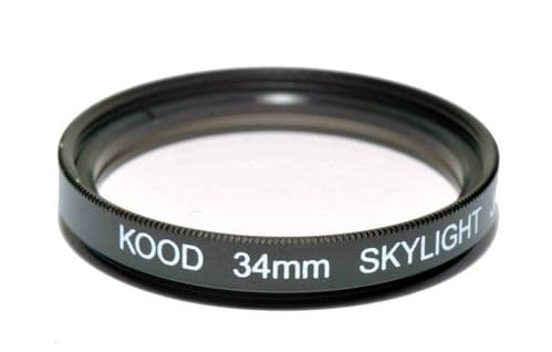 Kood High Quality Skylight 1A Optical Glass filter Made in Japan 34mm