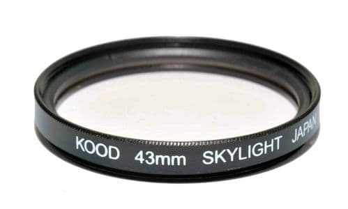 Kood High Quality Skylight 1A Optical Glass filter Made in Japan 43mm